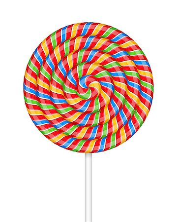 red circle lollipop - Lollipop on white background, vector eps10 illustration Stock Photo - Budget Royalty-Free & Subscription, Code: 400-08043601