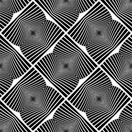 simsearch:400-04476890,k - Design seamless monochrome geometric pattern. Abstract textured background. Vector art. No gradient Stock Photo - Budget Royalty-Free & Subscription, Code: 400-08050025