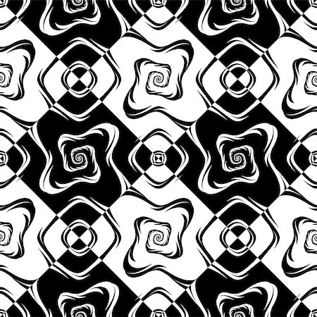 simsearch:400-04476890,k - Design seamless monochrome geometric pattern. Abstract textured background. Vector art Stock Photo - Budget Royalty-Free & Subscription, Code: 400-08050047