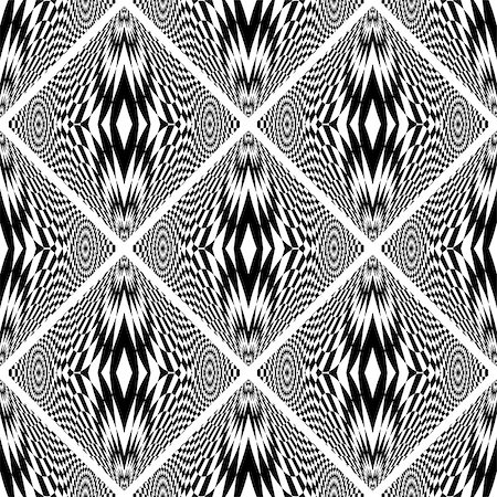 simsearch:400-04476890,k - Design seamless monochrome geometric pattern. Abstract checkered background. Vector art. No gradient Stock Photo - Budget Royalty-Free & Subscription, Code: 400-08051085