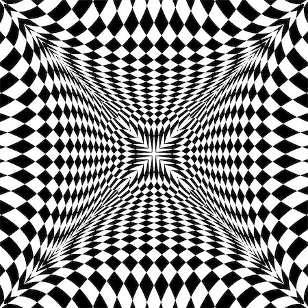 simsearch:400-04476890,k - Design monochrome motion illusion checkered background. Abstract torsion backdrop. Vector-art illustration Stock Photo - Budget Royalty-Free & Subscription, Code: 400-08052034