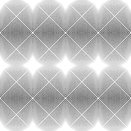 simsearch:400-04476890,k - Design seamless monochrome diamond geometric pattern. Abstract grid textured background. Vector art. No gradient Stock Photo - Budget Royalty-Free & Subscription, Code: 400-08052031