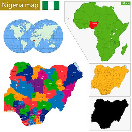 Administrative division of the Federal Republic of Nigeria Stock Photo - Budget Royalty-Free & Subscription, Code: 400-08053112