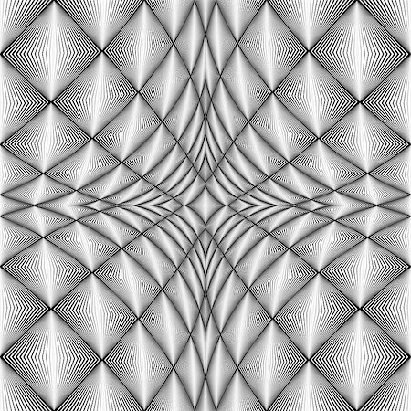 simsearch:400-04476890,k - Design diamond concave texture. Abstract geometric monochrome perspective background. Vector art. No gradient Stock Photo - Budget Royalty-Free & Subscription, Code: 400-08053311