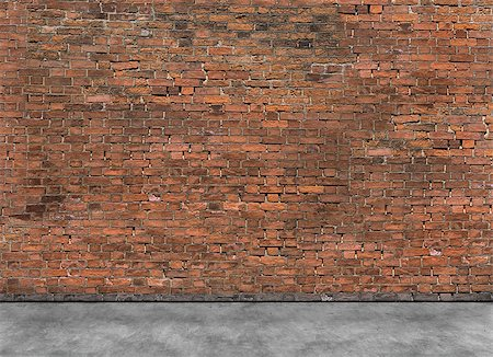 Old empty brick wall with part of foreground Stock Photo - Budget Royalty-Free & Subscription, Code: 400-08074663