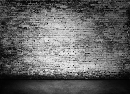 white murky brick wall texture with foreground Stock Photo - Budget Royalty-Free & Subscription, Code: 400-08074733