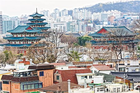 Gyeongbokgung, or the Palace of Felicitous Blessing, was the main palace of the Joseon Dynasty in korea Stock Photo - Budget Royalty-Free & Subscription, Code: 400-08077684