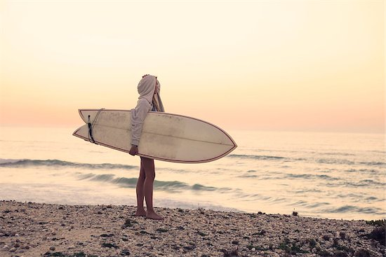 Beautiful female Surfer looking for the waves Stock Photo - Royalty-Free, Artist: iko, Image code: 400-08071732