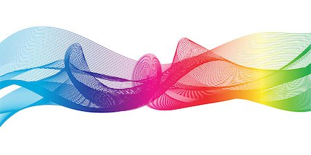 Abstract background as a rainbow ribbon on a white background. Stock Photo - Budget Royalty-Free & Subscription, Code: 400-08095668