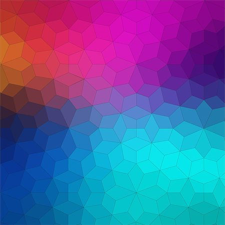 Flat geometric colorful background for web design Stock Photo - Budget Royalty-Free & Subscription, Code: 400-08097400