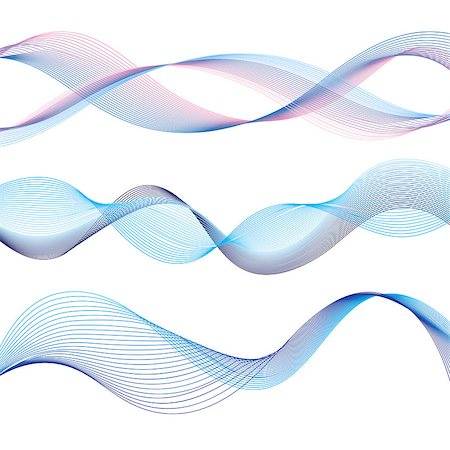 simsearch:400-04638538,k - set of different graphic of the waves on a white background Stock Photo - Budget Royalty-Free & Subscription, Code: 400-08097425