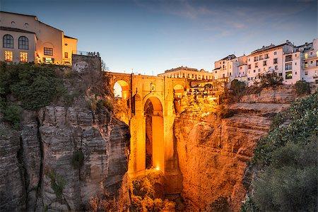 puentes - Ronda, Spain at Puente Nuevo Bridge. Stock Photo - Budget Royalty-Free & Subscription, Code: 400-08114981