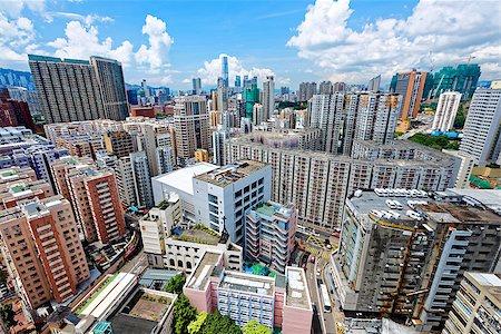 Hong Kong Urban downtown at day Stock Photo - Budget Royalty-Free & Subscription, Code: 400-08115577
