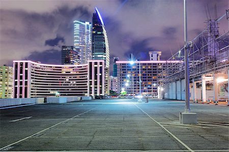 Empty car park at night Stock Photo - Budget Royalty-Free & Subscription, Code: 400-08115614