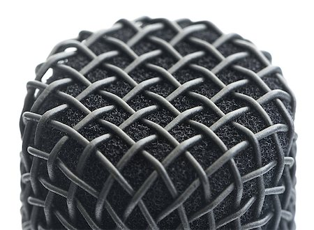 Close Up Detail of Microphone Head Isolated on White Background Stock Photo - Budget Royalty-Free & Subscription, Code: 400-08115896