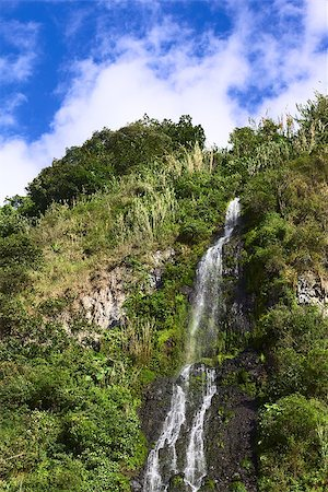 The waterfall called El Cabello Del Virgen (The Virgin's Hair) in the small town of Banos in Ecuador Stock Photo - Budget Royalty-Free & Subscription, Code: 400-08110222