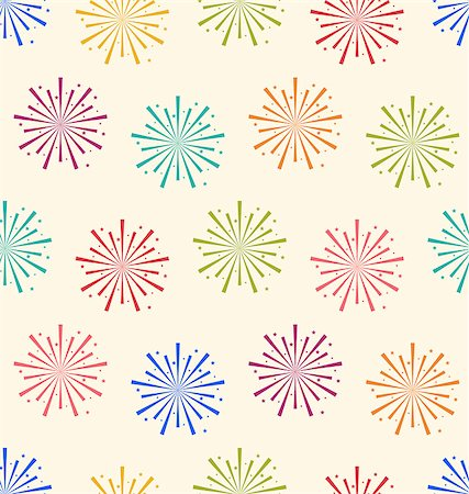 Illustration Seamless Pattern Colorful Firework for Holiday Celebration Events - Vector Stock Photo - Budget Royalty-Free & Subscription, Code: 400-08113363