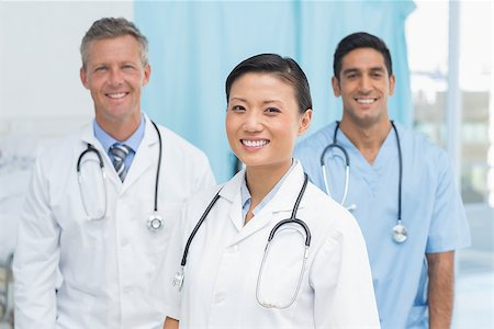 Portrait of confident doctors at hopital Stock Photo - Budget Royalty-Free & Subscription, Code: 400-08136172