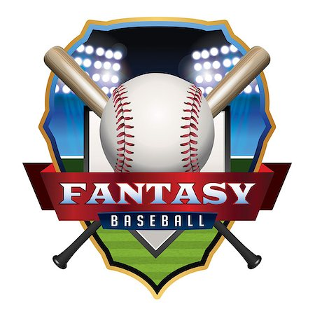 An emblem illustration for Fantasy Baseball. Vector EPS 10 available. EPS file contains transparencies and gradient mesh. Stock Photo - Budget Royalty-Free & Subscription, Code: 400-08138322