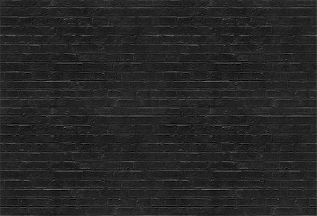 Seamless black brick wall pattern suitable for pattern filling Stock Photo - Budget Royalty-Free & Subscription, Code: 400-08138402