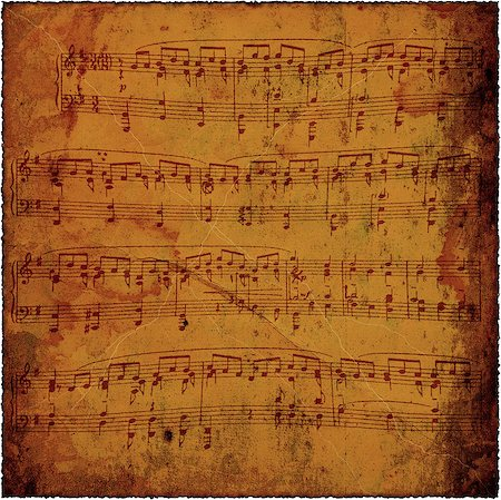sheet music background - Grunge old paper texture, background Stock Photo - Budget Royalty-Free & Subscription, Code: 400-08138517