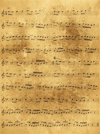sheet music background - Abstract grunge texture old paper background Stock Photo - Budget Royalty-Free & Subscription, Code: 400-08138518