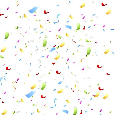 Bright shiny confetti on white background. Vector abstract design Stock Photo - Budget Royalty-Free & Subscription, Code: 400-08138674