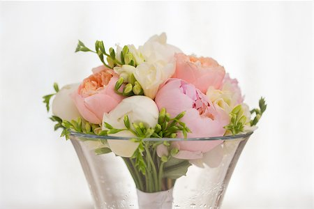 peony backgrounds - Pink flowers wedding decorations. Beautiful peonies in vases Stock Photo - Budget Royalty-Free & Subscription, Code: 400-08154491