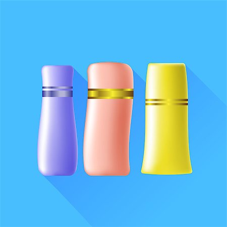 Set of Cosmetic Tubes Isolated on Blue Background. Stock Photo - Budget Royalty-Free & Subscription, Code: 400-08155828