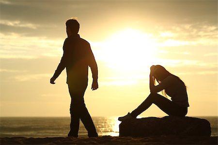 sad lovers break up - image description Stock Photo - Budget Royalty-Free & Subscription, Code: 400-08152561