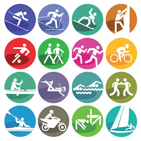 Sport icon set Stock Photo - Budget Royalty-Free & Subscription, Code: 400-08165635