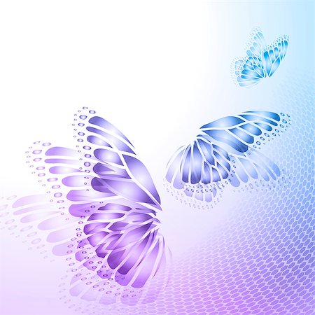 Abstract blue  purple background with  butterfly wings Stock Photo - Budget Royalty-Free & Subscription, Code: 400-08161977