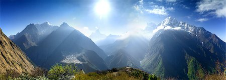 Beautiful mountain view of Everest Region, Sagarmatha National Park, Himalayas, Nepal Stock Photo - Budget Royalty-Free & Subscription, Code: 400-08186428