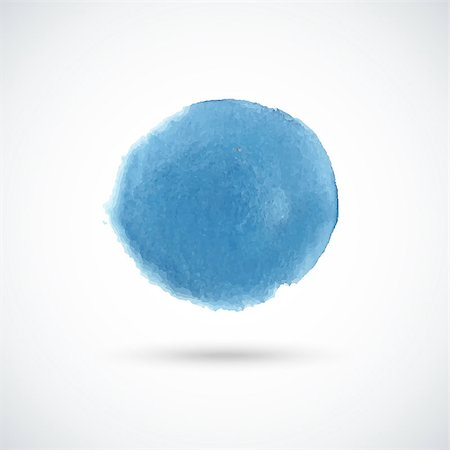 spot paint - Blue hand drawn watercolor circle. Vector design element. Stock Photo - Budget Royalty-Free & Subscription, Code: 400-08189010