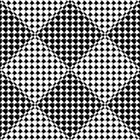 simsearch:400-04476890,k - Design seamless diamond geometric pattern. Abstract monochrome background. Vector art Stock Photo - Budget Royalty-Free & Subscription, Code: 400-08194455