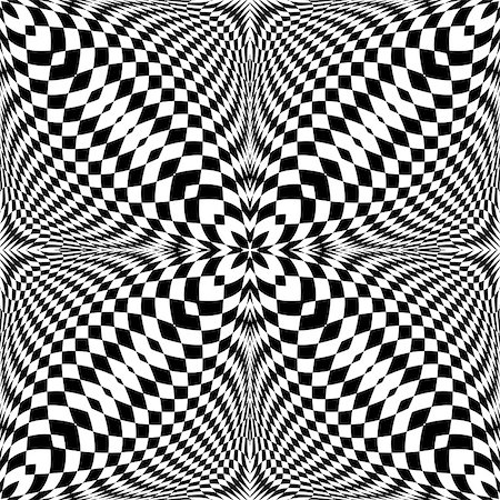 simsearch:400-04476890,k - Design seamless monochrome illusion checkered pattern. Abstract torsion background. Vector art. No gradient Stock Photo - Budget Royalty-Free & Subscription, Code: 400-08194465