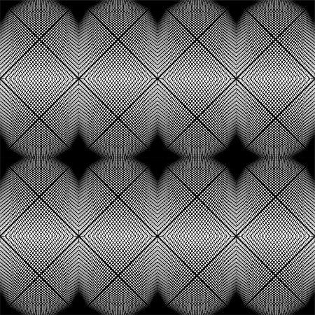 simsearch:400-04476890,k - Design seamless monochrome diamond geometric pattern. Abstract grid textured background. Vector art. No gradient Stock Photo - Budget Royalty-Free & Subscription, Code: 400-08194472