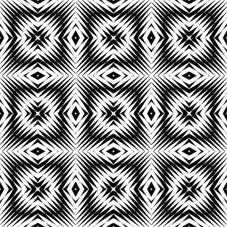 simsearch:400-04476890,k - Design seamless monochrome square pattern. Abstract geometric lattice background. Vector art. No gradient Stock Photo - Budget Royalty-Free & Subscription, Code: 400-08195320