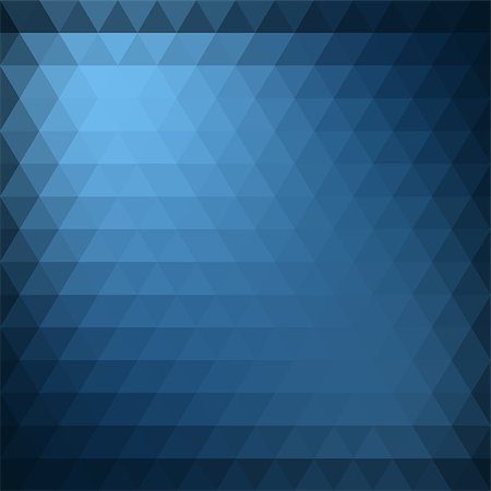 Abstract blue triangle geometric background. Vector illustration Stock Photo - Budget Royalty-Free & Subscription, Code: 400-08195903