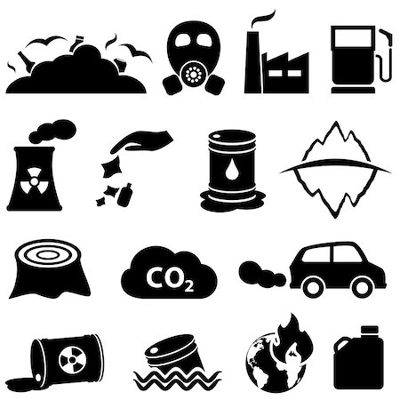 soleilc (artist) - Pollution, global warming and environment icons Stock Photo - Budget Royalty-Free & Subscription, Code: 400-08196368