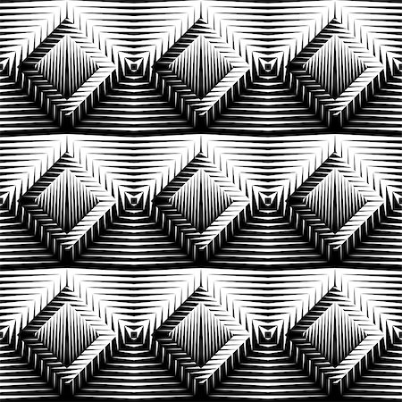 simsearch:400-04476890,k - Design seamless diamond trellised pattern. Abstract geometric monochrome background. Vector art. No gradient Stock Photo - Budget Royalty-Free & Subscription, Code: 400-08196399