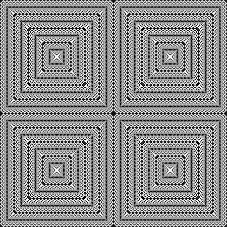simsearch:400-04476890,k - Design seamless monochrome square pattern. Abstract textured background. Vector art. No gradient Stock Photo - Budget Royalty-Free & Subscription, Code: 400-08196417