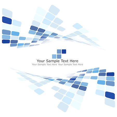 simsearch:400-04476890,k - Checkered Background With Text Space. Ideal Balanced Colors in Blue Tone. Suitable For Creating Business, Technological and Other Designs. Vector Illustration. Stock Photo - Budget Royalty-Free & Subscription, Code: 400-08198949