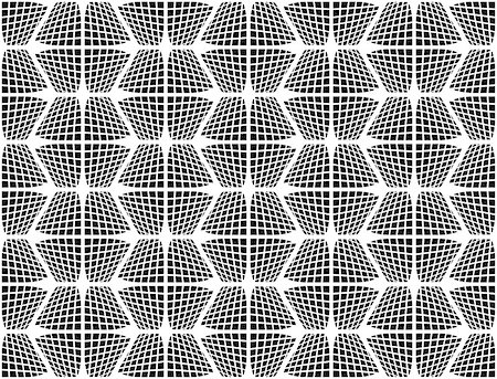simsearch:400-04476890,k - Design seamless monochrome checked hexagon pattern. Abstract grid textured background. Vector art Stock Photo - Budget Royalty-Free & Subscription, Code: 400-08190282