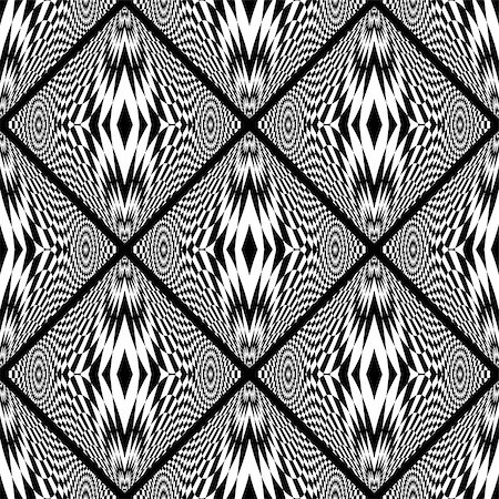 simsearch:400-04476890,k - Design seamless monochrome geometric pattern. Abstract checkered background. Vector art. No gradient Stock Photo - Budget Royalty-Free & Subscription, Code: 400-08190295