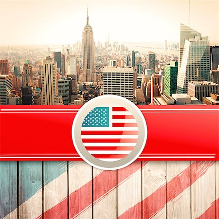Independence day graphic against wooden planks Stock Photo - Budget Royalty-Free & Subscription, Code: 400-08200535