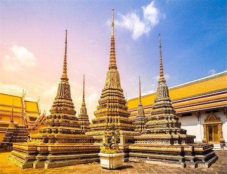 Wat Phra Chetupon Vimolmangklararm (Wat Pho) temple, Bangkok, Thailand. Stock Photo - Budget Royalty-Free & Subscription, Code: 400-08221914