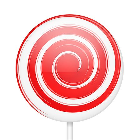 red circle lollipop - Sweet lollipop with stick, vector eps10 illustration Stock Photo - Budget Royalty-Free & Subscription, Code: 400-08223894