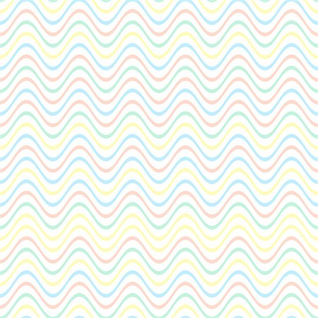 simsearch:400-04638538,k - Colorful pastel vector simple seamless wavy line pattern Stock Photo - Budget Royalty-Free & Subscription, Code: 400-08256254