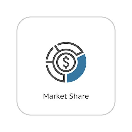 report icon - Market Share Icon. Business Concept. Flat Design. Isolated Illustration. Stock Photo - Budget Royalty-Free & Subscription, Code: 400-08258493